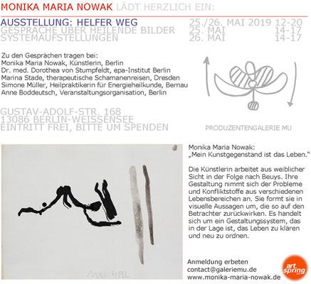 """HELFER WEG - HEILENDE BILDER"", Einladungskarte"
