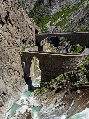 Teufelsbrücke in der Schöllenenschlucht