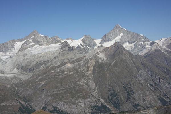 Zinalrothorn 4221m und Weisshorn 4505