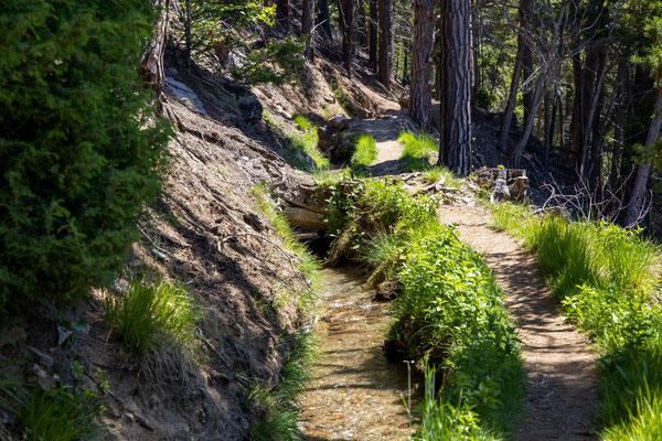 Suonen, alte Wasserleitung zum bewässern, derFelder