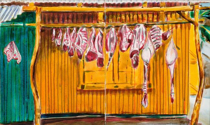 Pueblo de Carna, 2009 | 60x100 | Acryl auf Leinwand