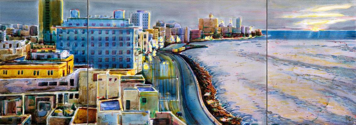 El Malecón por la noche, 2006 | 70x200 | Privatsammlung