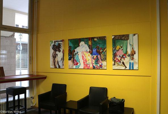 Voodoo 2010, Acryl auf Leinwand, 80 x 210 cm, 3tlg