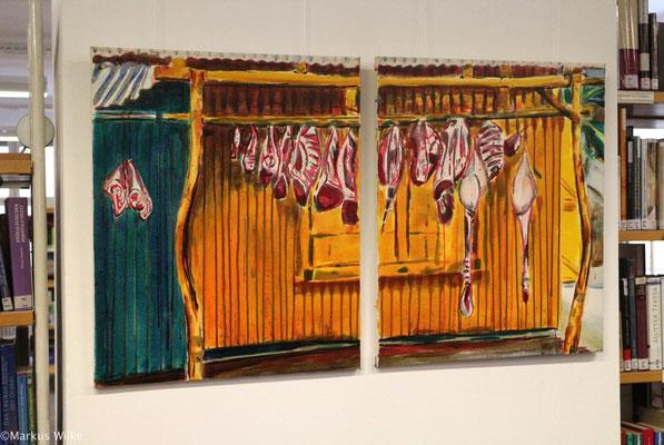 Carne, 2010, Acryl auf Leinwand, 60 x 100 cm, 2tlg