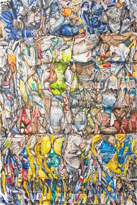 crease 2017, Acryl auf Leinwand 150 x 100 cm