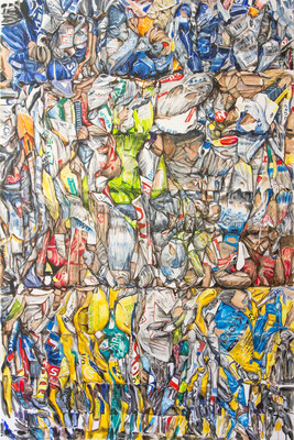 CREASE 2017 Acryl auf Leinwand 150 x 100 cm