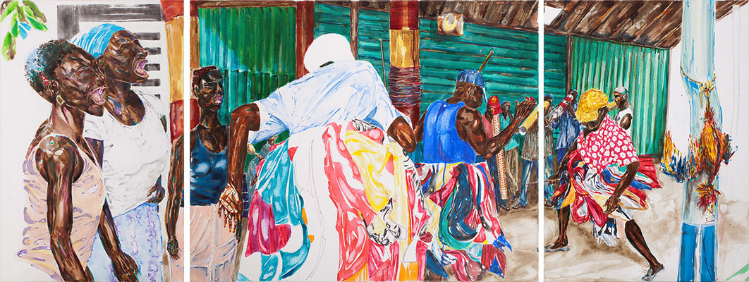 Voodoo, 2010 | Acryl auf Leinwand, 80 x 210 cm, 3tlg
