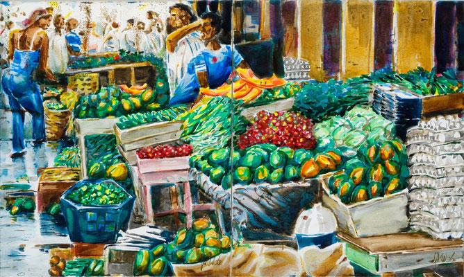 Frutas y Huevos, 2009 | 60x100 | Acryl auf Leinwand
