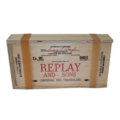 REPLAY targhetta/scatola in legno