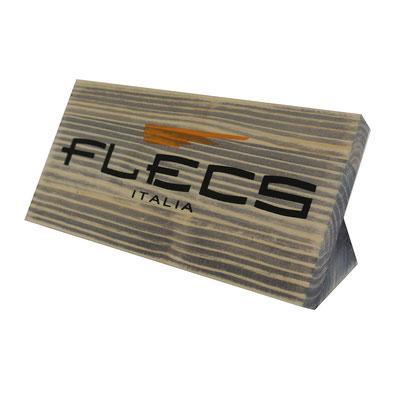 FLECS targhetta in legno trattata ad invecchiamento