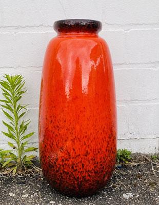 Knallrote Schurich Pop Art vase, 1970er