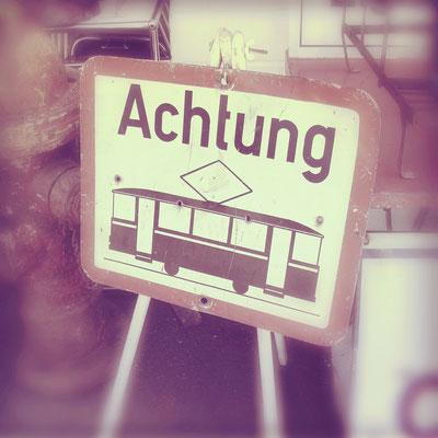 Vintage Straßenbahn / Tram Schild