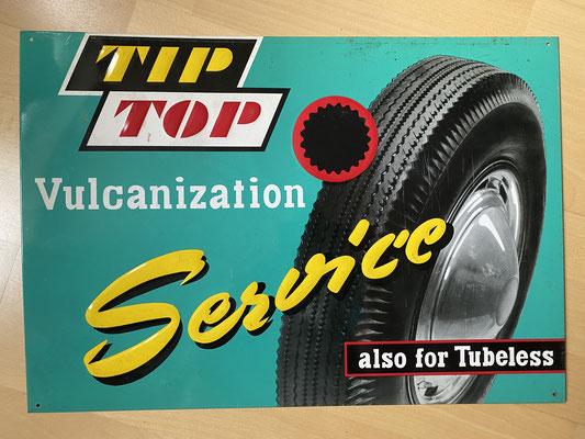 Midcentury Tip Top Vulcanization Service Schild