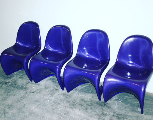Pantheon Chairs Purple, original 1971