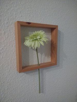 Blumenvase Holzrahmen