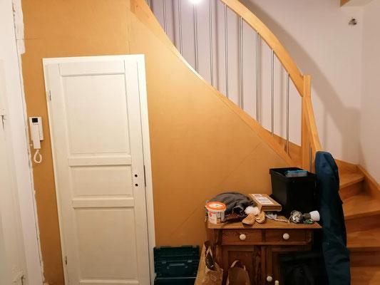 Trockenbau Verkleidung Stellwand Zimmertüre Wohnungsmodernisierung