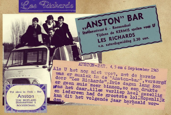 Anston Bar - Les Richards - Kermis 4,5 en 6 september 1965