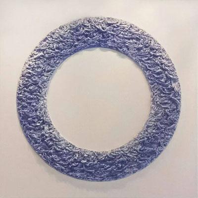 Walter van Oel, mixed media on canvas, 190x190 cm