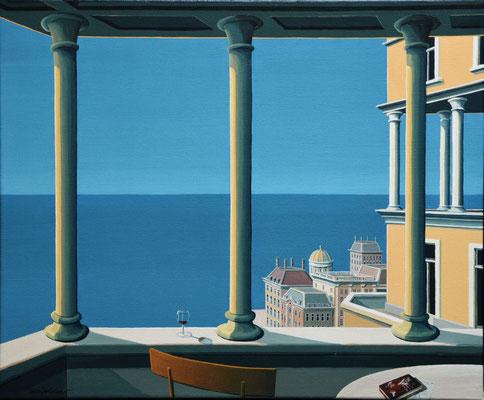 Joop Polder, The Loggia II, 60x50 cm