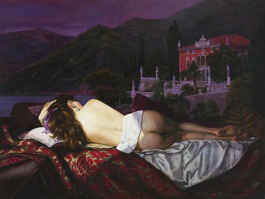 Iris Frederix | Villa Bramosia, oil on canvas, 90 x 120 cm