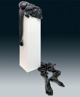 Ton Voortman, En attendant Godot, bronze, 130 cm