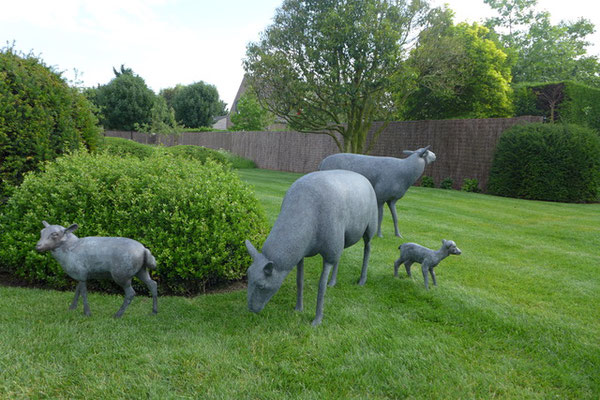 Bronze sheep by Andre Woussen