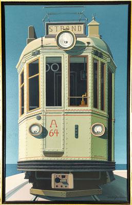 Joop Polder tram 64, 70x100 cm. SOLD