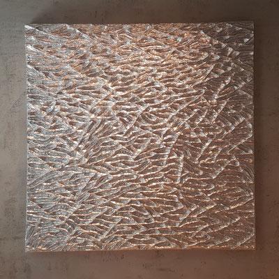 Walter van Oel, mixed media on canvas, 180x180 cm
