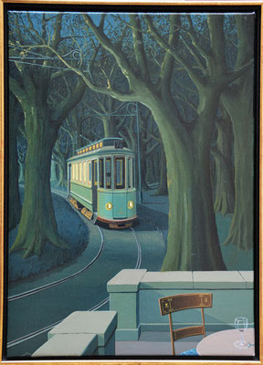 Joop Polder, Station in the wood,  50x70 cm. Price on request.