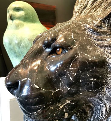 Lion, 60 cm, Marble Composite Edition: 8. Price on request