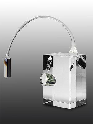 Ming Hou Chen, optical glass, unique piece, 36x31x16 cm