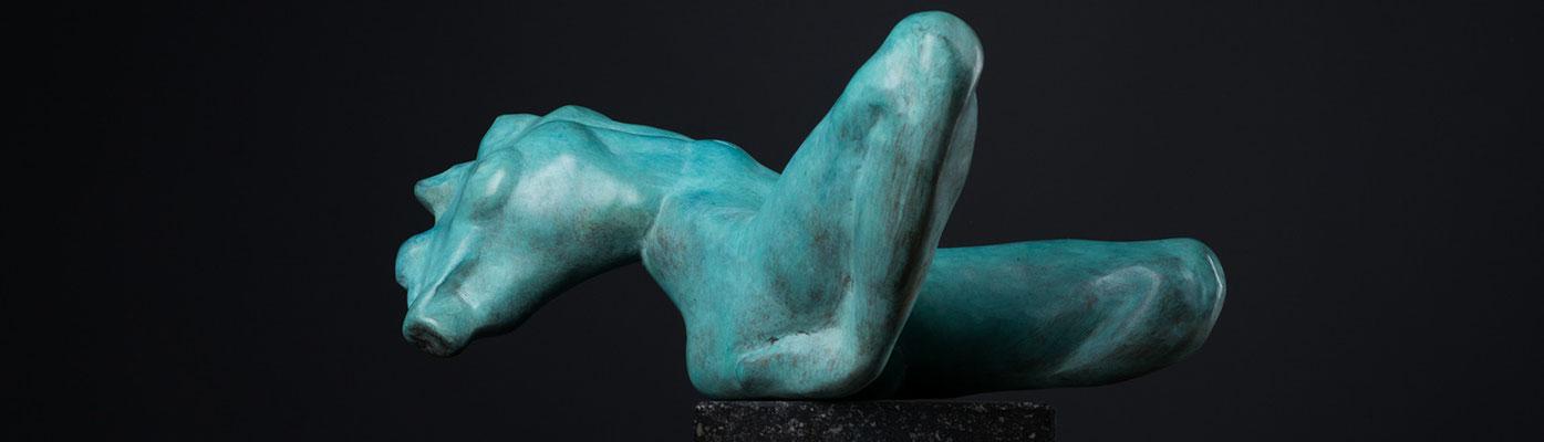 Godfried Dols, bronze, La piccola morte, 11x25x21 cm. EUR 2,800