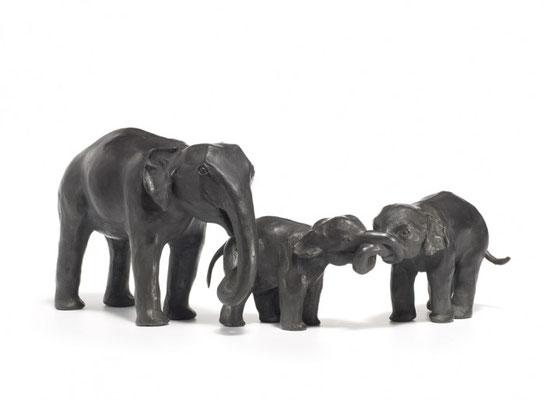 Willemien Fransen Brons / Bronze Olifanten / Elephants 20 cm