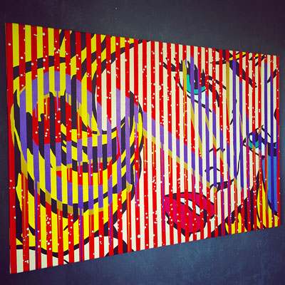 Kevin Langedijk | Envy | Mixed Media on canvas |  120x80 cm | Price on request