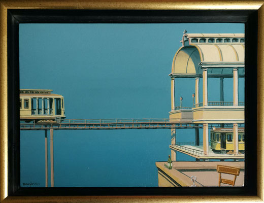 Joop Polder The viaduct  21x13 cm SOLD