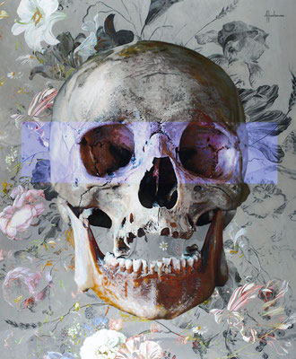 Tos Kostermans   Smile, Mixed Media on canvas, 140x100 cm