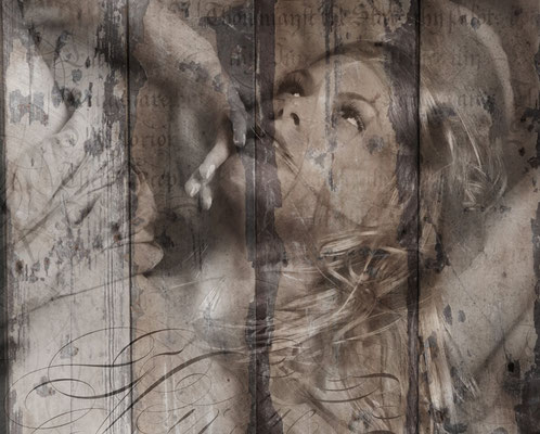 Sue Vincent Peters Photography Fresco XII Original Photography on wooden panel 75 x 60 x 4 cm