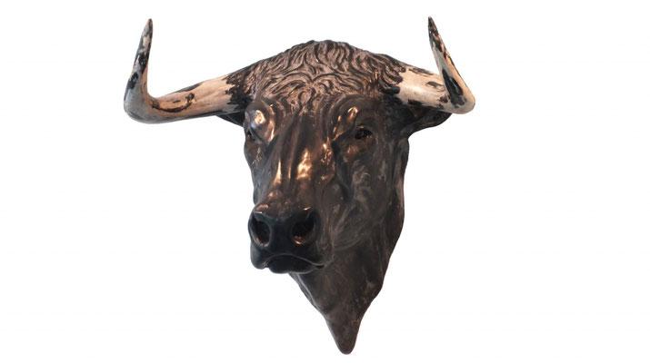 Bull Head, 40 cm, marble composite, EUR 5,500