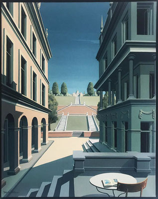 Joop Polder, The Palace, 80x100 cm.  SOLD