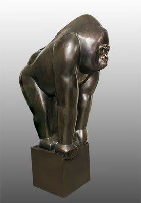 Big Good Gorlla, bronze, 190 cm, series: 8