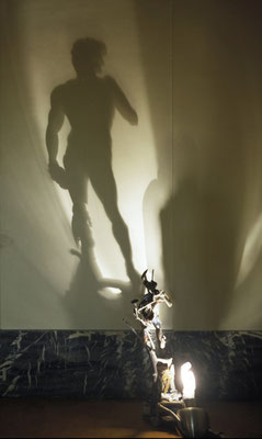 David. Shadow sculpture.