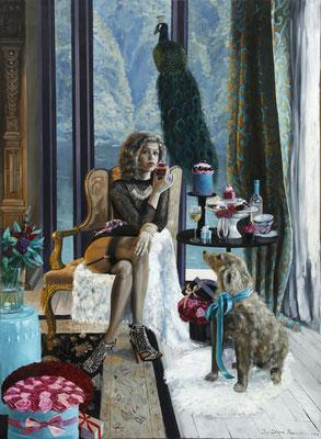 Iris Frederix   Bis vincit que se vincit, oil on canvas, 170 x 130 cm