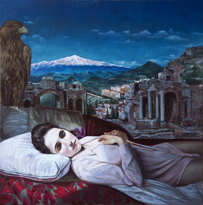 Iris Frederix | Longing of the soul, oil on canvas, 120 x 120 cm
