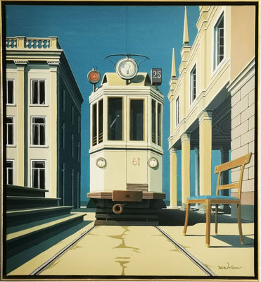SOLD. Joop Polder, Line 25, 90x100 cm