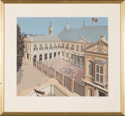 Joop Polder, Paleis Nooordeinde, Litho, 60x50 cm, EUR 1900