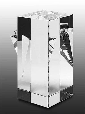 Ming Hou Chen, optical glass, unique piece, 24x18x12 cm