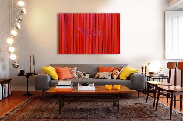 Kevin Langedijk | Noir | Mixed Media on canvas |  140x100 cm | SOLD