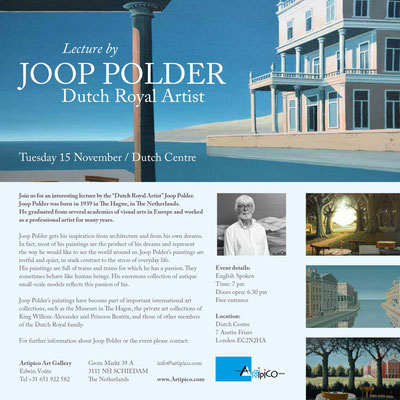 Joop Polder Lecture in Dutch Curch London November 2016