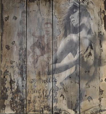 Sue Vincent Peters Photography Fresco V Original Photography on wooden panel 60 x 66 x 4 cm