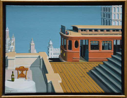 Joop Polder The High Station 40x30 cm SOLD